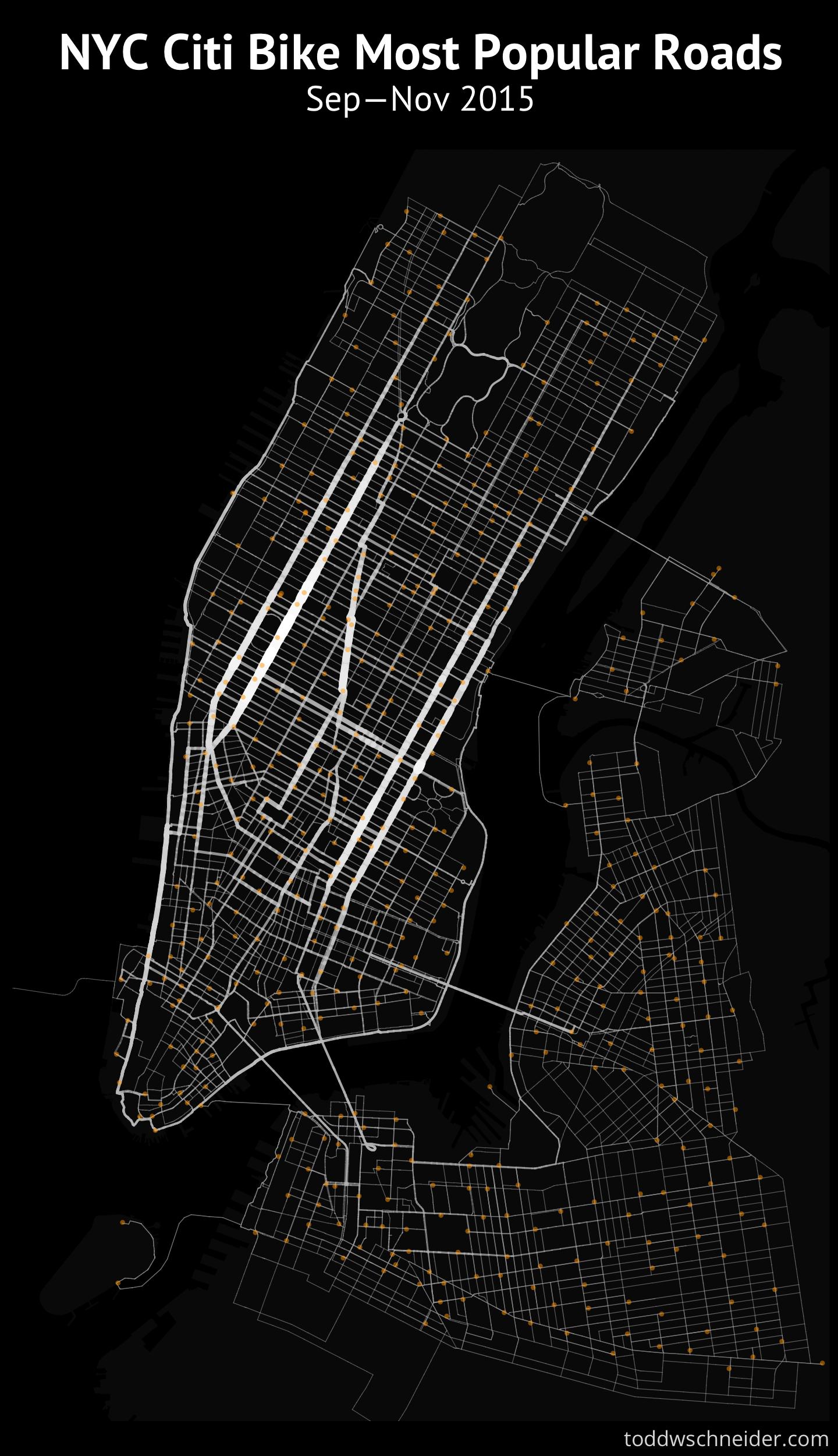 A Tale Of TwentyTwo Million Citi Bike Rides Analyzing The NYC - Nyc map bike lanes