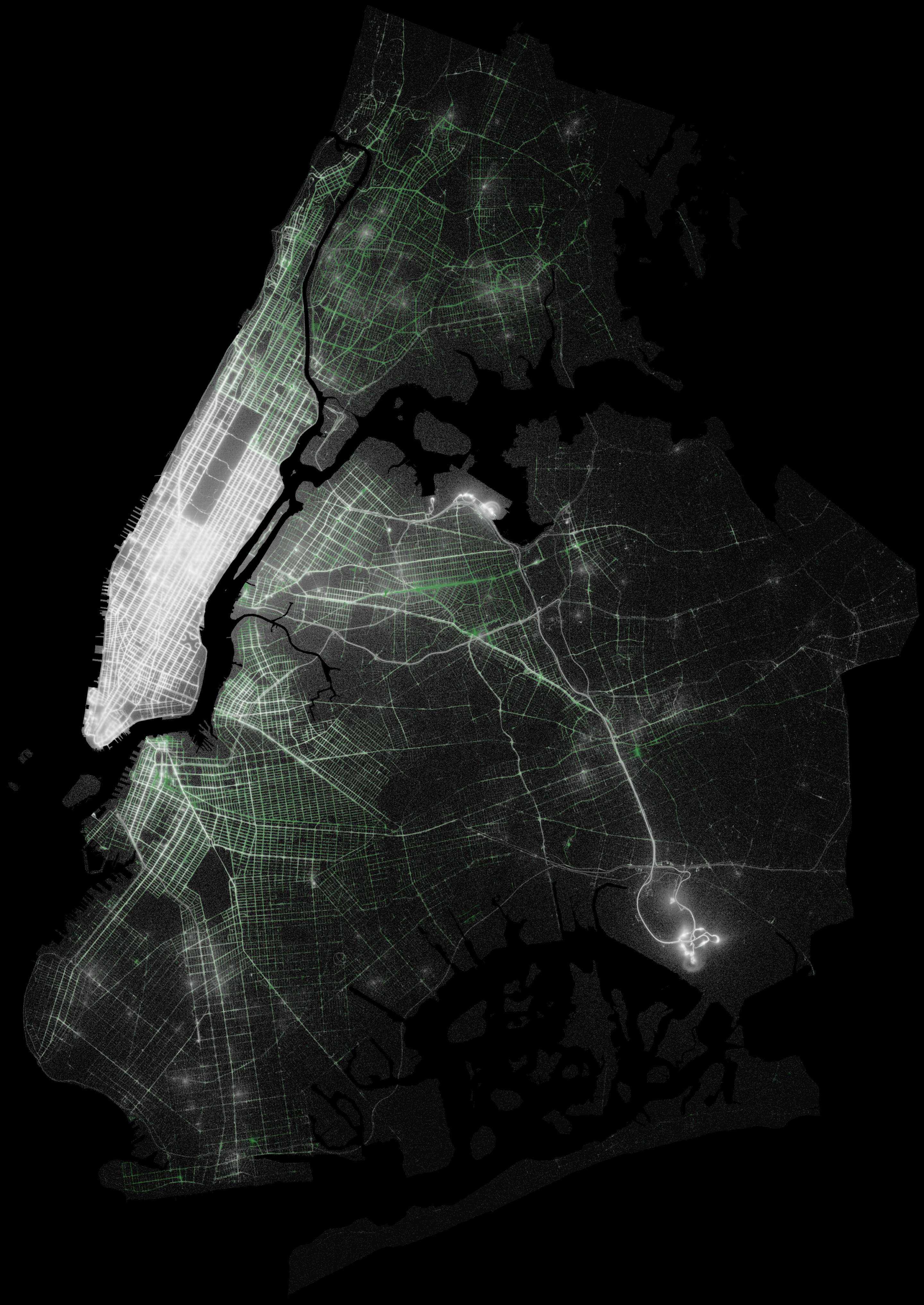 Analyzing Billion NYC Taxi And Uber Trips With A Vengeance - Uber heat map us